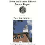 Weathersfield Annual School and Town Report 2010-2011